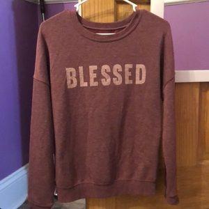 "Women's ""Blessed"" lightweight sweatshirt"